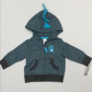 Carter's 3m NWT Striped Monster Jacket Spiked Hood